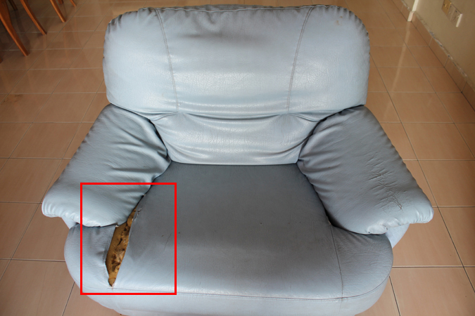 Sofa tear out